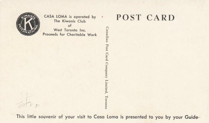 CASA LOMA , TORONTO, Ontario , 30-50s Tour Guide #6