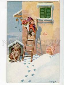270572 Boy ROMEO & BULLDOG Dog by KASKELINE Vintage NOVITAS PC