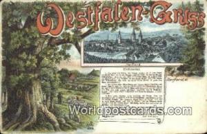 Westfalen Gruss Germany, Deutschland Postcard Herford Westfalen Gruss Herford