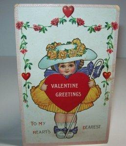 Vintage Valentines Day Greetings Postcard Embossed Gibson Series 406 Germany