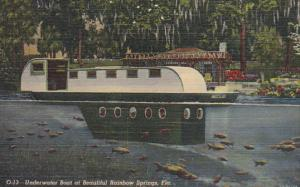 Florida Underwater Boat At Beautiful Rainbow Springs Curteich