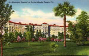Florida Tampa Municipal Hospital On Davis Island 1948 Curteich