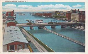 Looking North, Bridge, Oswego, New York, 1910-1920s