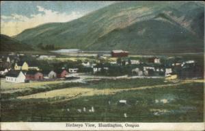 Huntington OR Birdseye View c1910 Postcard