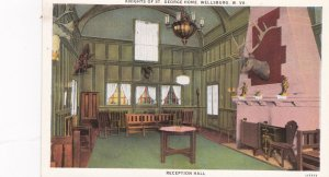 WELLSBURG, West Virginia, 1900-10s; Knights of St. George Home, Reception Hall