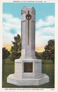 New York Saratoga Springs Memorial To The Unknown Soldiers Battles Of Saratog...