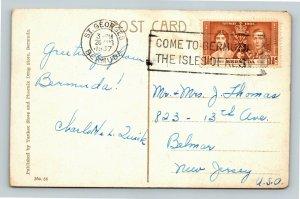 Aunt Peggy's Home In Bermuda Vintage c1937 Postcard