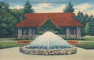 Fountain at Greeley Park - Nashua NH, New Hampshire - Linen