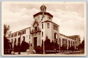 Los Angeles CA~Automobile Club of Southern California~Flag Pole~Cupola~1940 RRPC