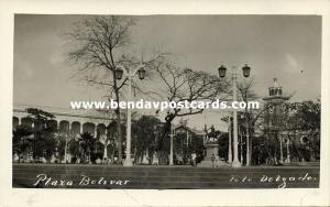 venezuela, MARACAIBO, Plaza Bolivar (1930s) Delgado RPPC (1)