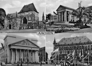 Bad Aachen Ponttor, Theater, Kurhaus, Rathaus Town Hall Auto Cars Casino