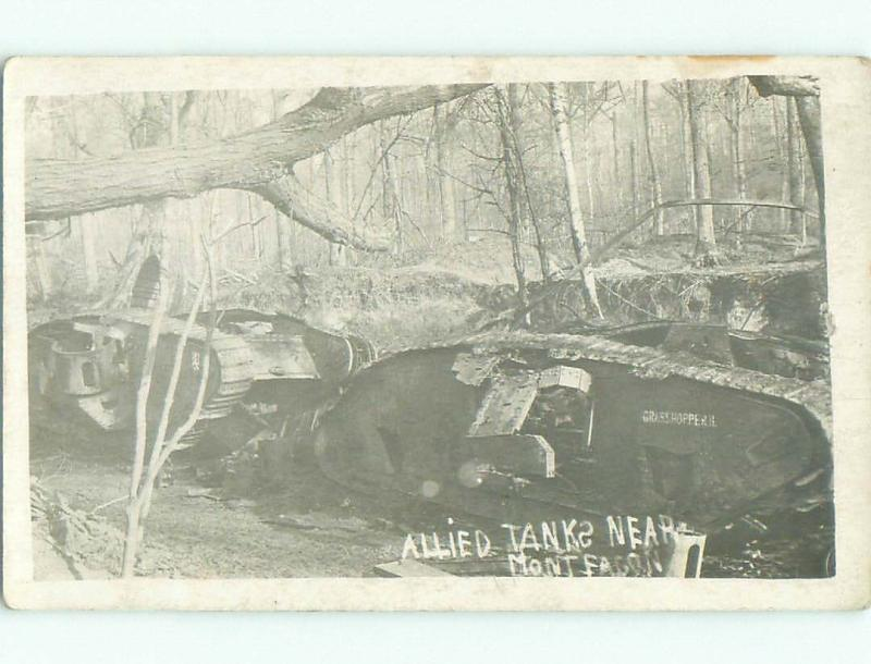 old rppc MILITARY - ALLIED WWI TANK i1985