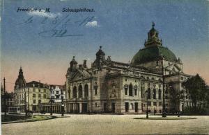 germany, FRANKFURT am MAIN, Schauspielhaus, Theater (1919)