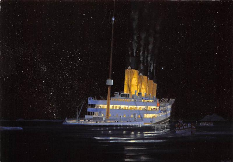 Titanic Monday April 15th Modern White Star Line Ship Steamer Unused