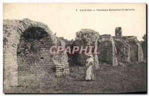 Old Postcard Holy Roman Baths St Saloine