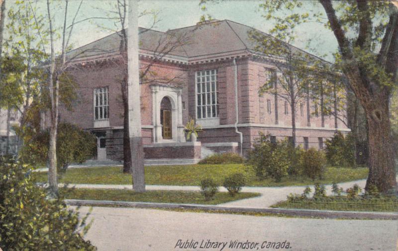WINDSOR, Ontario, Canada, PU-1910; Public Library