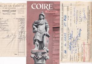 Hotel De La Cloche Grisonn Coire Nancy 3x Receipt Guide s