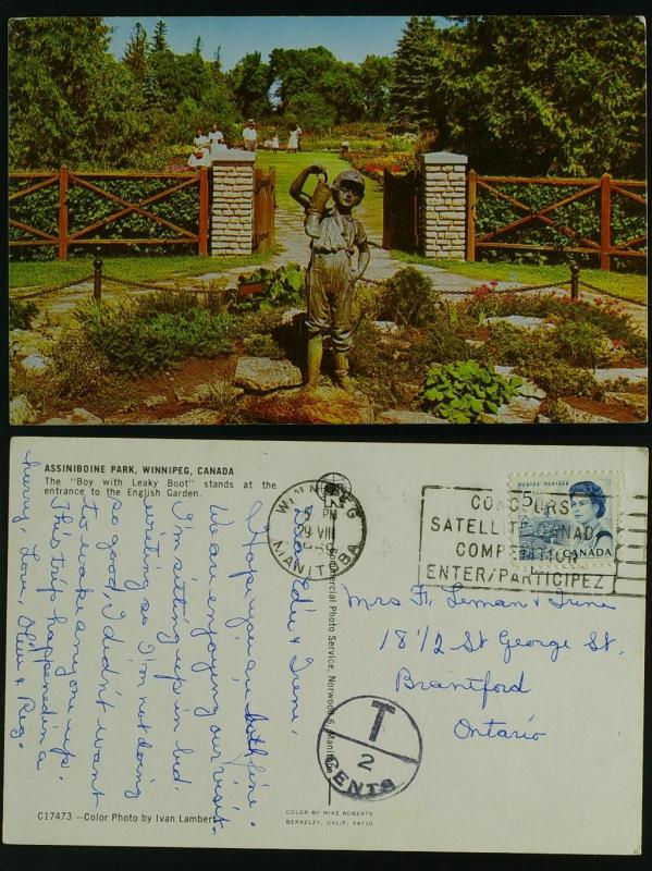 Assiniboine Park Winnipeg  Man slogan Postage Due 1969