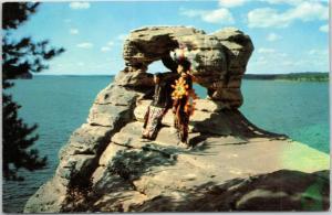 Wisconsin Dells -  Native American boys/men at Demon's Anvil