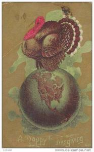 Turkey Sitting On Top Of The World, A Happy Thanksgiving, PU-1916