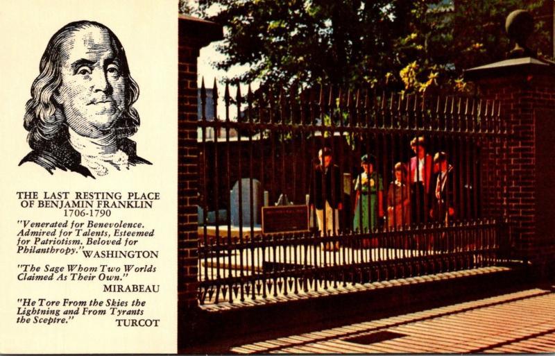 Pennsylvania Philadelphia Benjamin Franklin's Grave