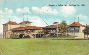 Oklahoma City Oklahoma Delmar Park Entrance Antique Postcard K39023