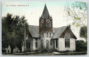 Vermillion South Dakota~Methodist Episcopal ME Church~Clapboard House~1912 PC