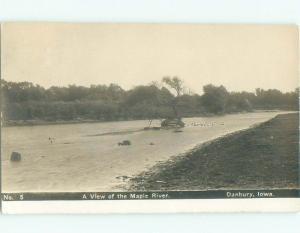 Pre-1920 rppc NICE VIEW Danbury - Near Ida Grove & Sioux City Iowa IA i8031