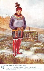 B84750 danish eskimo woman types folklore  greenland groenland