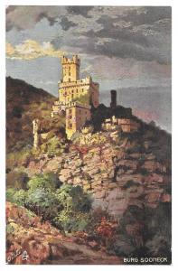 Castle Burg Sooneck Tuck Rheinburgen Oilette Germany Postcar