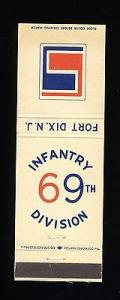 Fort Dix, New Jersey/NJ Matchcover, 69th Infantry Divisio...