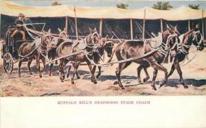 Buffalo Bills C-1905 Wild West Show Deadwood Stage Coach postcard 6717