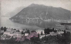 Panoramic View of Lake Como, Italy, Early Hand Tinted Postcard, Unused