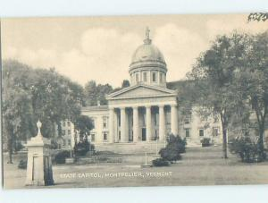 Unused 1940's STATE CAPITOL BUILDING Montpelier Vermont VT G1503