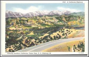 California Route '66 Cajon Pass Postcard