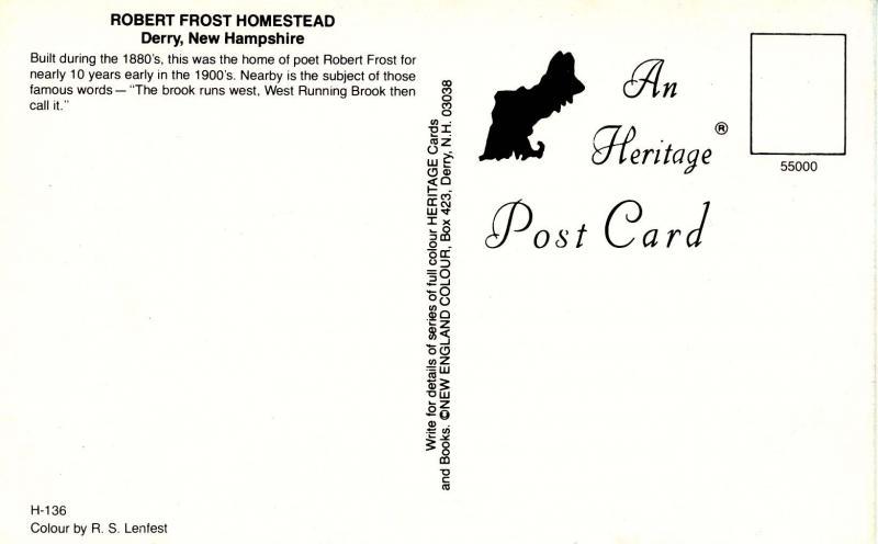 NH - Derry. Robert Frost Homestead