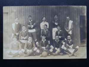 Postcard Portrait of Unknown Football Team - Old RP Postcard