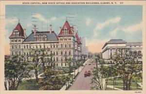 New York Albany State Capitol Building & New State & Educations Buildings 193...