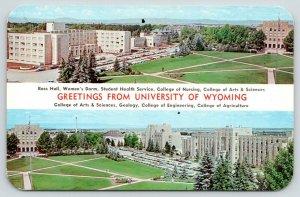 Laramie Wyoming~University of Wyoming~Birdseye View Showing Dorms & Halls~1950s