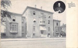 Baltimore Maryland~Catholic Church Cardinal Gibbons Residence~Photo Inset~1905