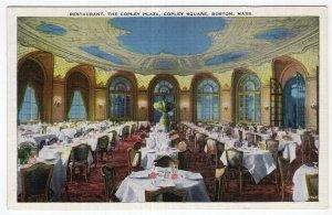 Boston, Mass, Restaurant, The Copley Plaza, Copley Square