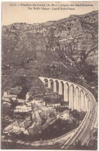 France, Viaduc du Loup, Ligne du Sud-France, unused Postcard