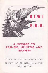 Save The Kiwi Bird New Zealand Farmers Hunters Wellington Ephemera