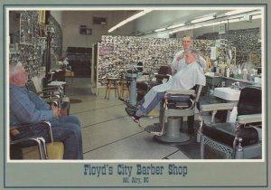 MT. AIRY, North Carolina, 60-70s; Floyd's City Barber Shop