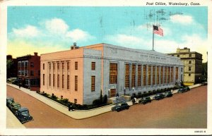 Connecticut Waterbury Post Office 1948 Curteich