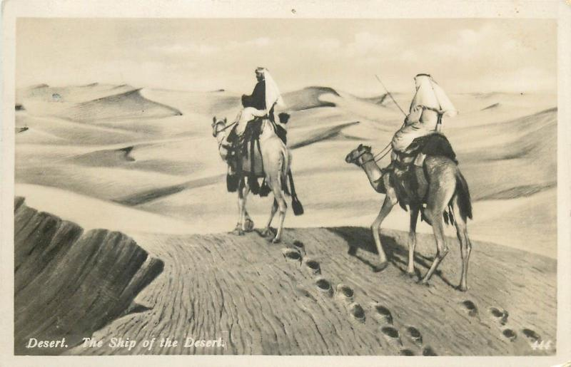 Africa Egypt photo postcard - the ship of the desert ethnics , camels