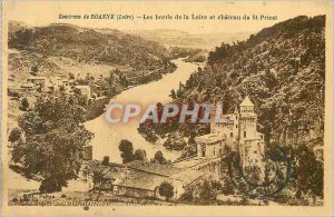 Old Postcard Around Roanne (Loire) the edges of the Loire and Chateau de St P...