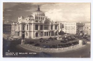 RPPC Palacio De Bellas Artes Mexico DeSentis D. F. ca 1941