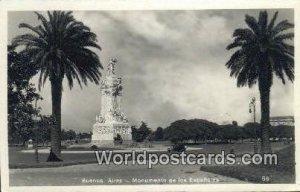 Monumento de los Espanoles Buenos Aires Argentina Unused
