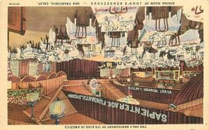 John's Rendezvous Dining Room 1940s SAN FRANCISCO CALIFORNIA Teich 3669